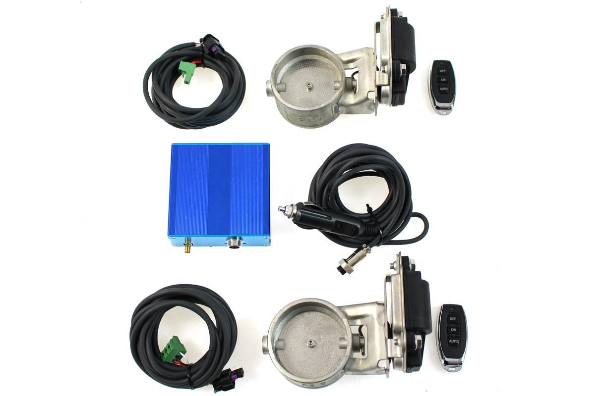 Zestaw przepustnicy wydechu elektryczny PRO 63mm Dual - GRUBYGARAGE - Sklep Tuningowy